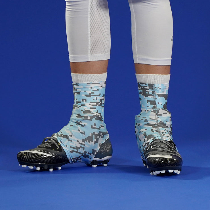 Digital Camo Blue Powder Gray White Spats / Cleat Covers