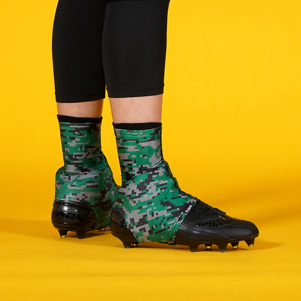 Digital Camo Green Gray Black Spats / Cleat Covers