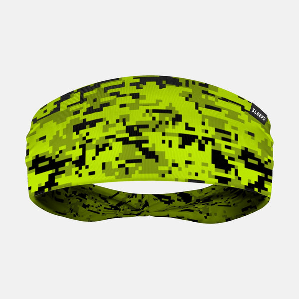 Digital Camo Green Black Headband