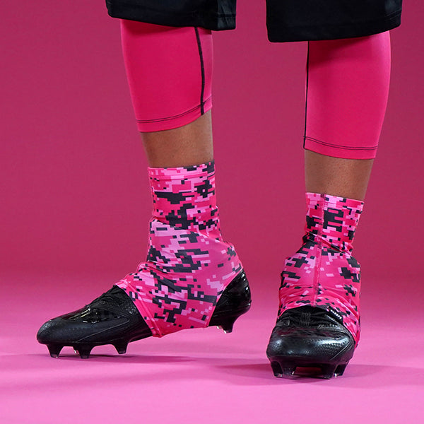 Digital Camo Pink Black Spats / Cleat Covers