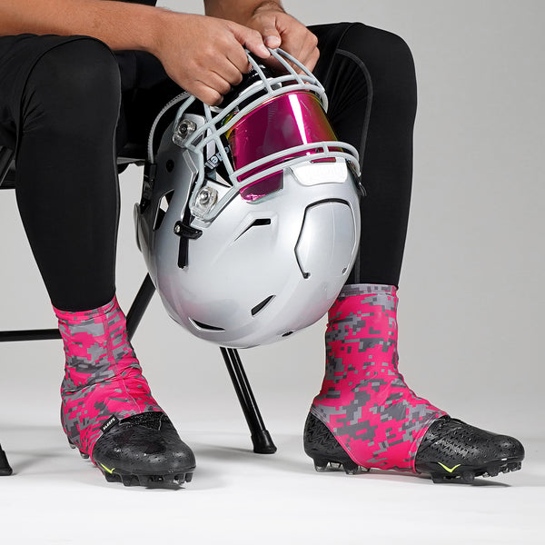 Digital Camo Pink Clutch Spats / Cleat Covers