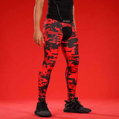 Digital Camo Red Beast Tight for men