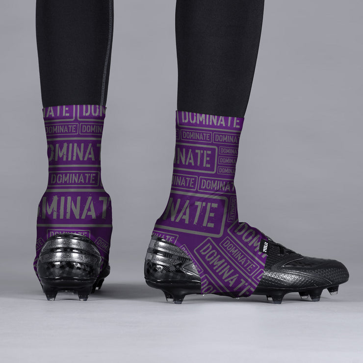 Dominate Purple Spats / Cleat Covers