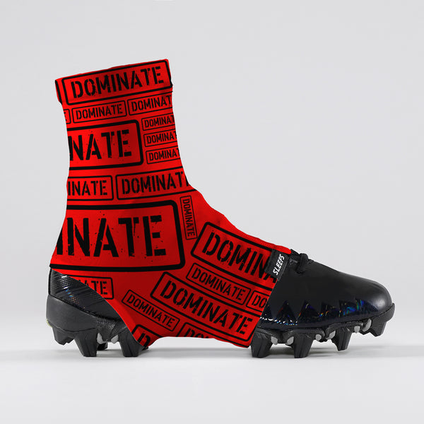Dominate Red Spats / Cleat Covers