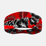 Floral Red Black Headband
