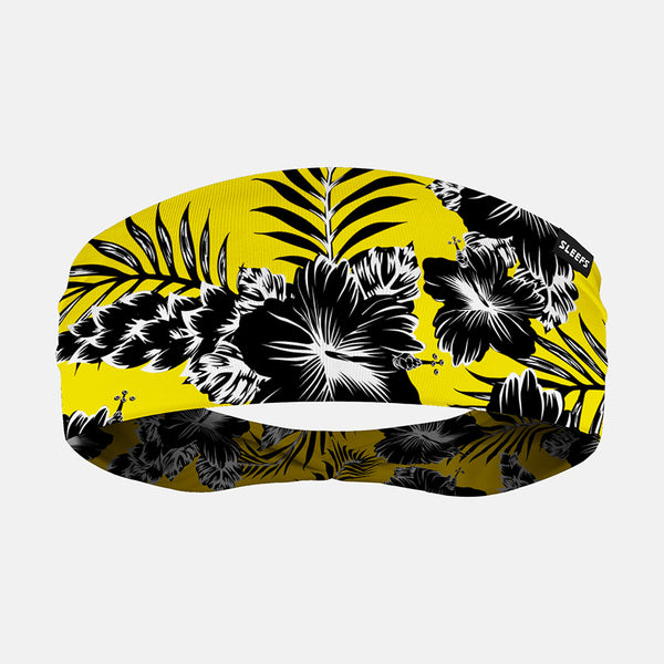 Floral Yellow Black Headband