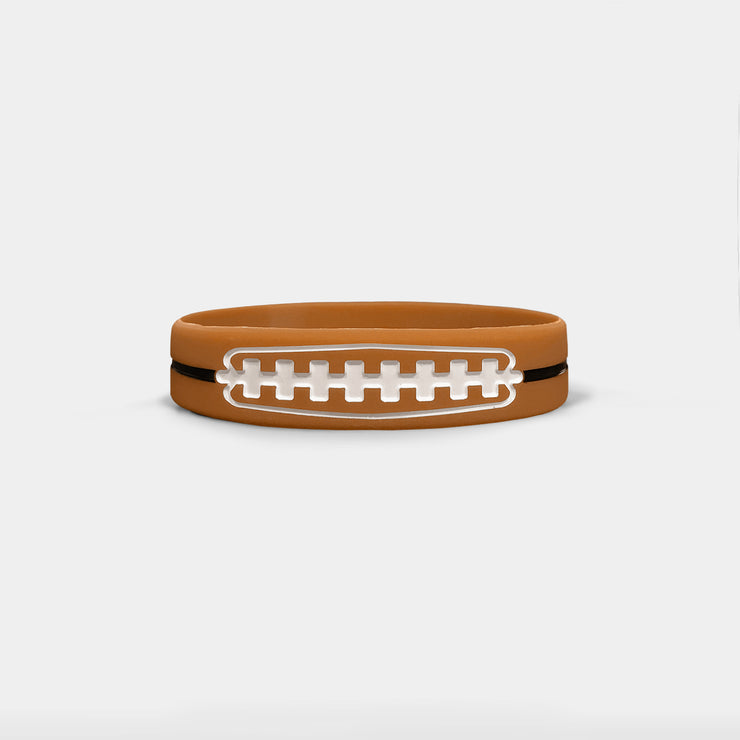 Football Lace Kids Motivational Wristband