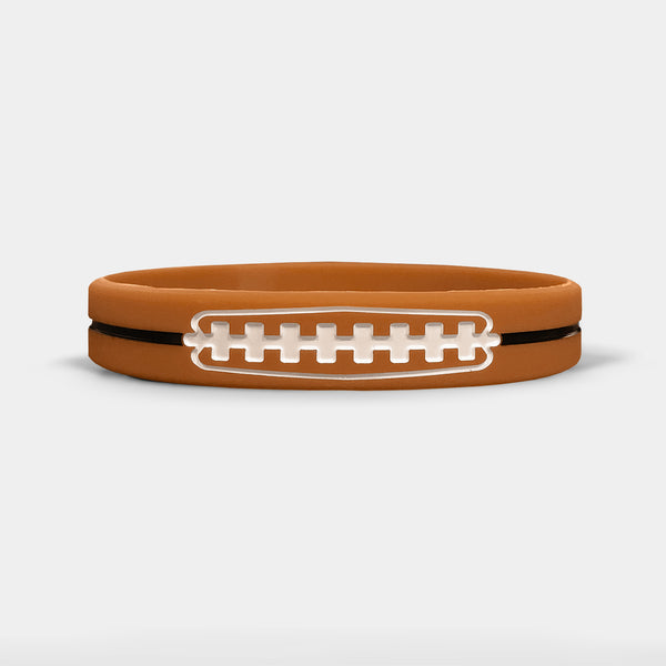 Football Lace Motivational Wristband