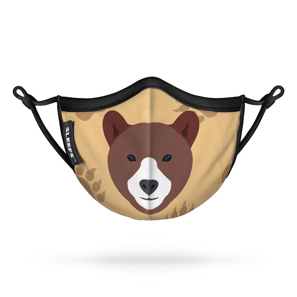Fudge The Bear Kids Face Mask With Nose Shape