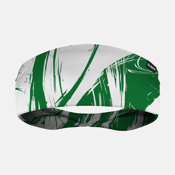 Fury Green and white Headband