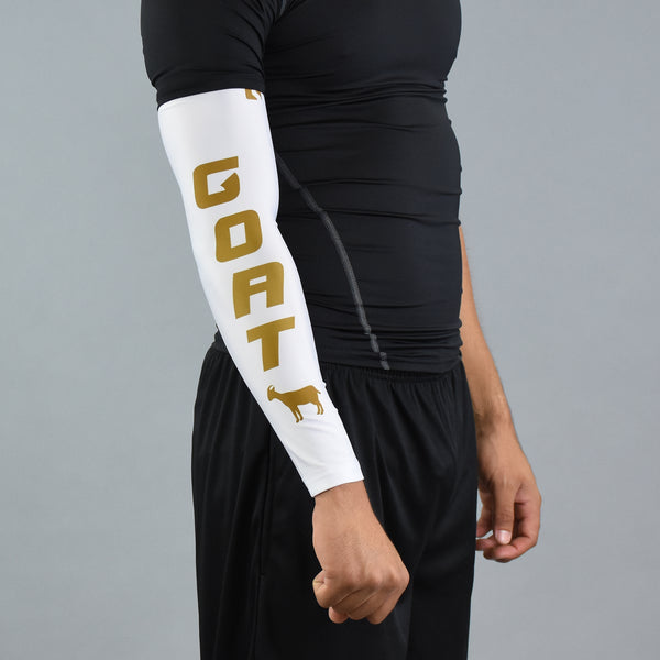 G.O.A.T Emoji White and Gold arm sleeve
