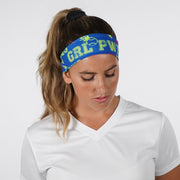 GRL PWR Pattern Navy Kids Tie Headband