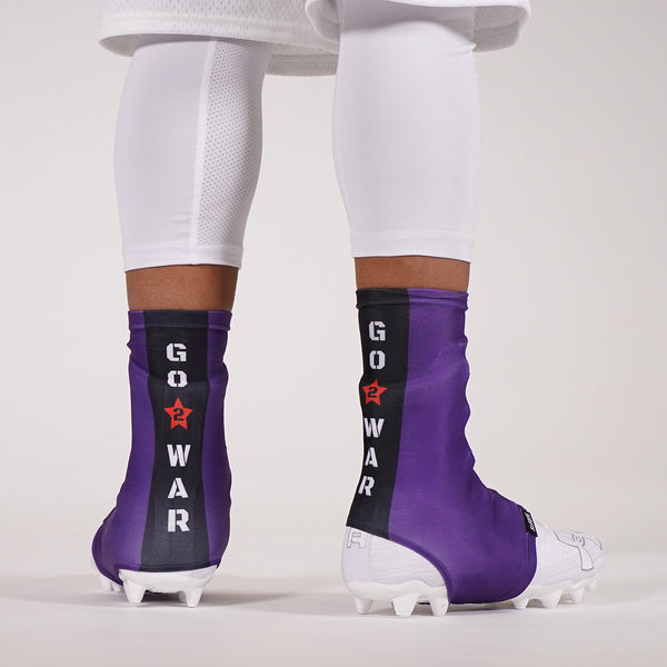 Go 2 War Purple Spats / Cleat Covers