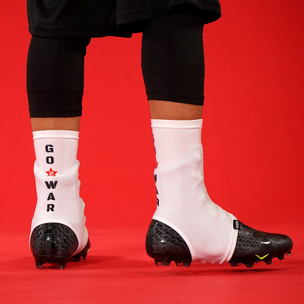 Go 2 War White Spats / Cleat Covers