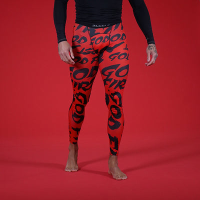 God First Red Tights for men