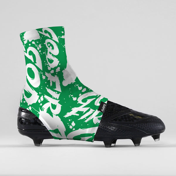 God First Green Spats / Cleat Covers