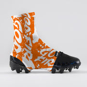 God First Orange Spats / Cleat Covers