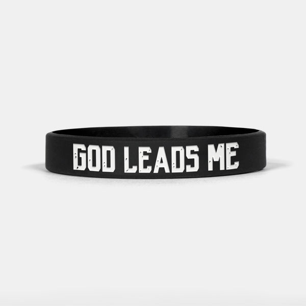 God Leads Me Motivational Wristband