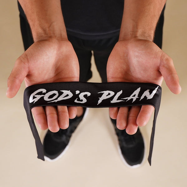 God's Plan Black Kids Tie Headband