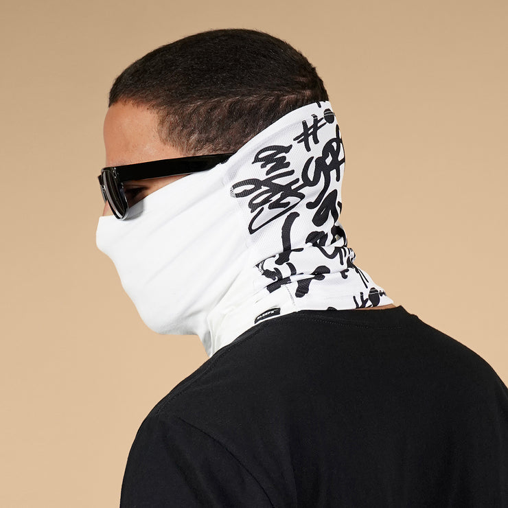 Grind Graffiti White Dry Fit / Cotton Neck Gaiter