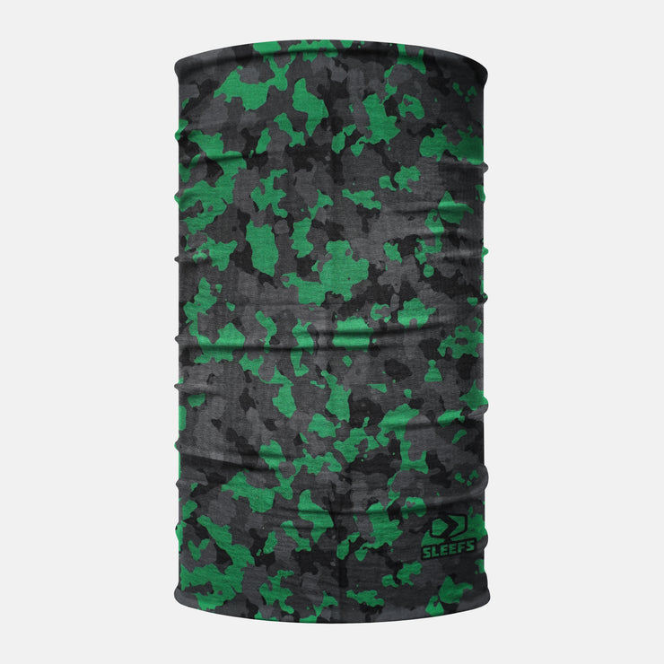Gray Green Camo Neck Gaiter