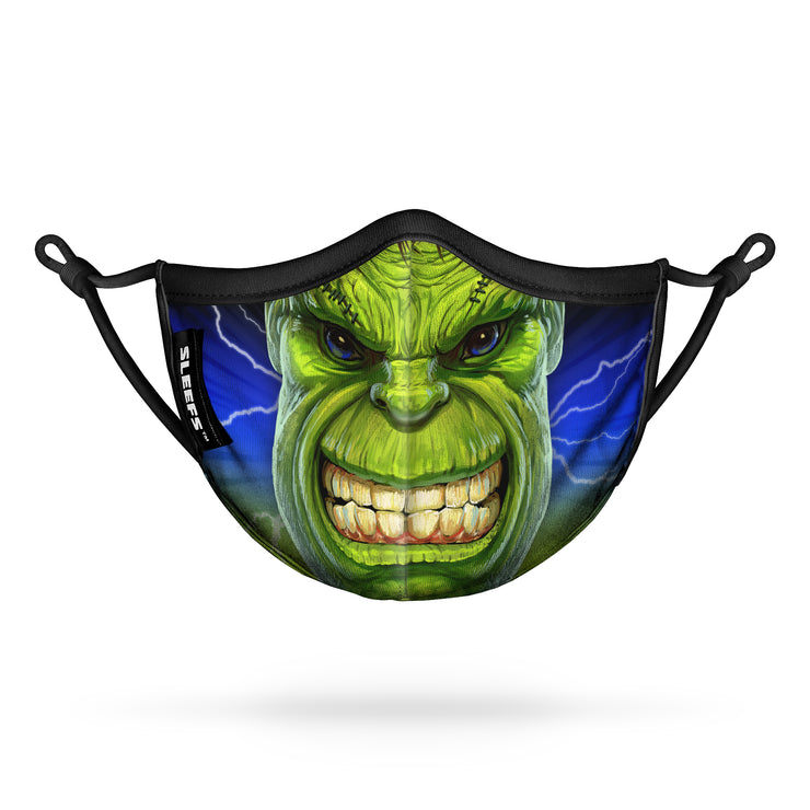 Green Monster Kids Face Mask With Nose Shape