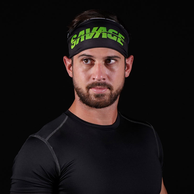 Green Grin Savage Double sided Headband