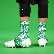 Graffiti Green Spats / Cleat Covers