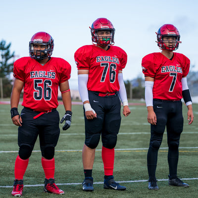 Hue Red Football Leg Sleeves