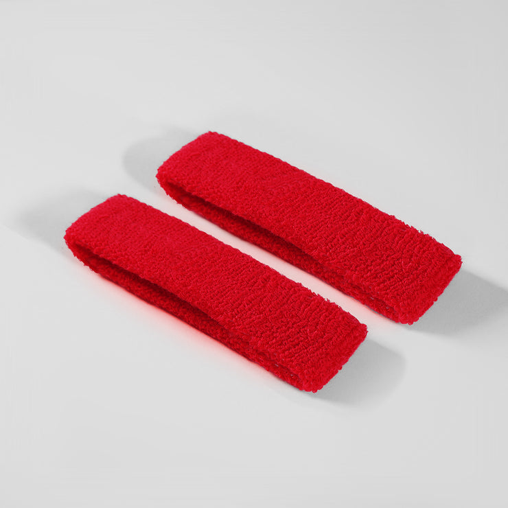 Hue Red Cotton Bicep Bands