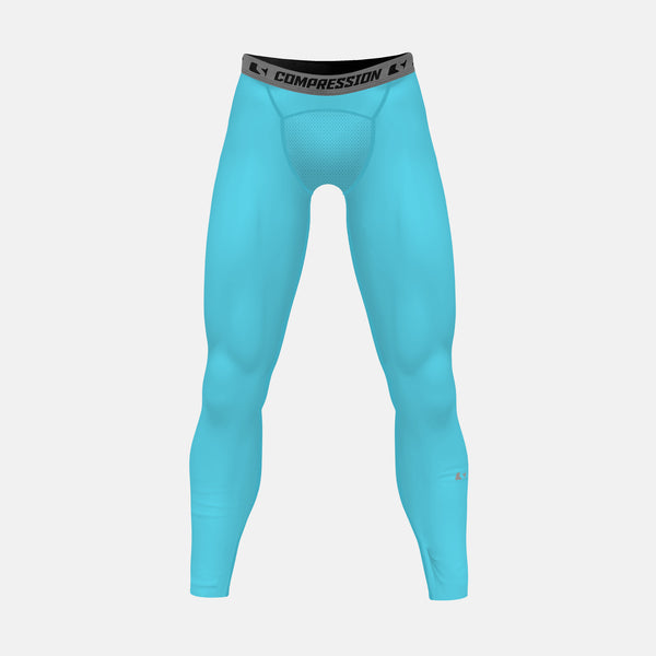 Hue Light Blue Solid Compression Tights / Leggings