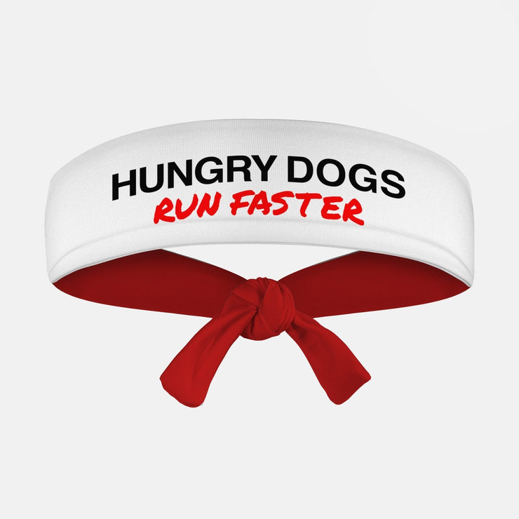Hungry Dogs Run Faster Kids Tie Headband