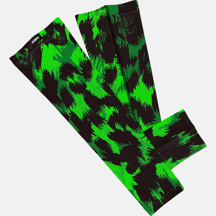 Hyena Green Black Arm Sleeve