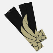 Icarus Black Old Gold Kids Arm Sleeve