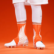 Icarus Orange Spats / Cleat Covers