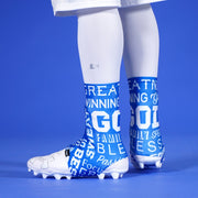 Inspirational Blue Spats / Cleat Covers
