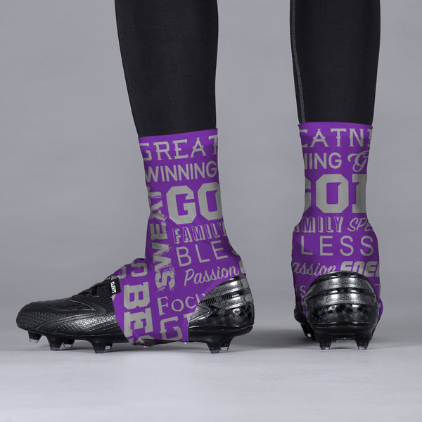 Inspirational Purple Spats / Cleat Covers