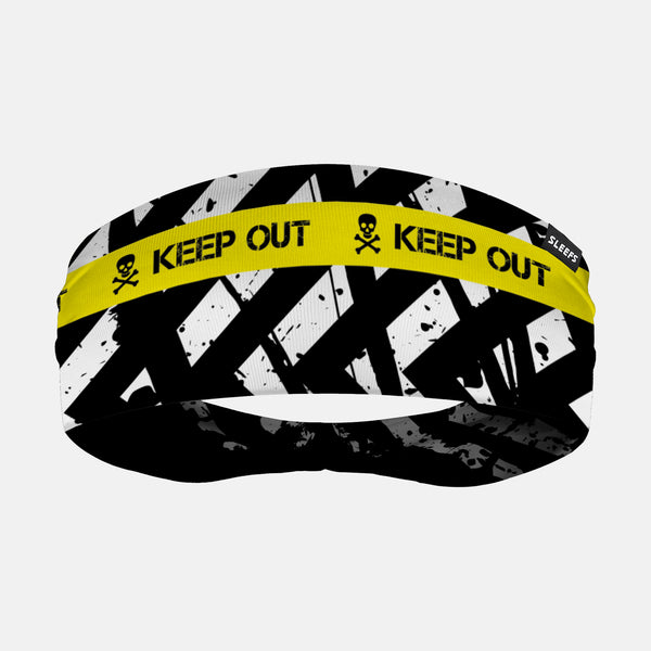 Keep Out Black Yellow Headband