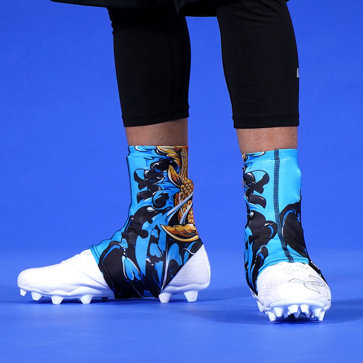 Koi Gold Blue Spats / Cleat Covers