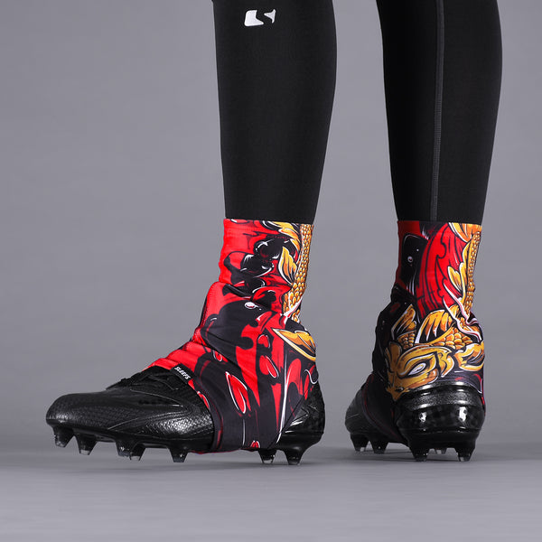 Koi Gold Red Spats / Cleat Covers