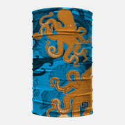 Kraken Octopus Yellow Blue Neck Gaiter