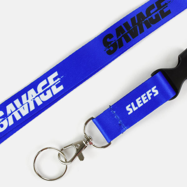 Sleefs Savage Blue Lanyard