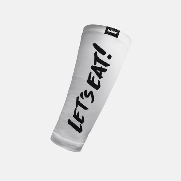 Let's Eat White Forearm Compression Sleeve