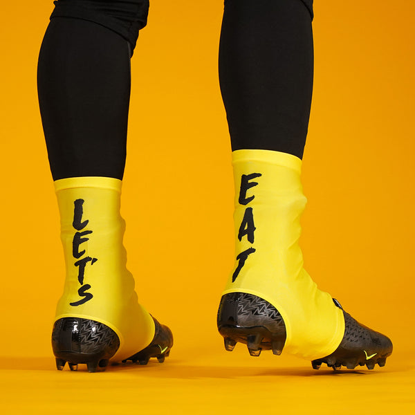 Let's Eat Yellow Spats / Cleat Covers
