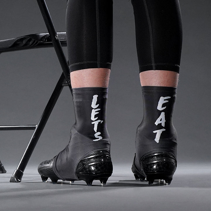 Let's Eat Black Spats / Cleat Covers