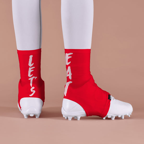 Let's Eat Red Spats / Cleat Covers