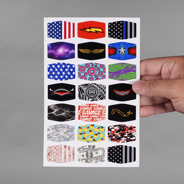 Pattern Collection Stickers for Helmets