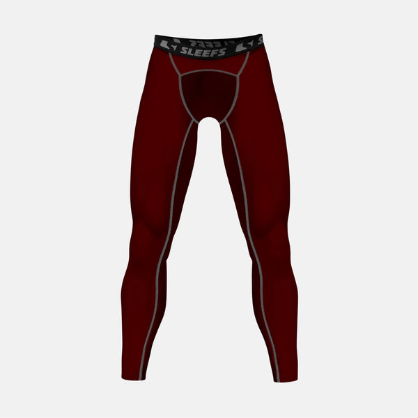 Dark Maroon compression tights / leggings