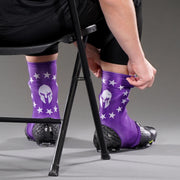 Mask 13 Stars Betsy Rose Purple Spats / Cleat Covers