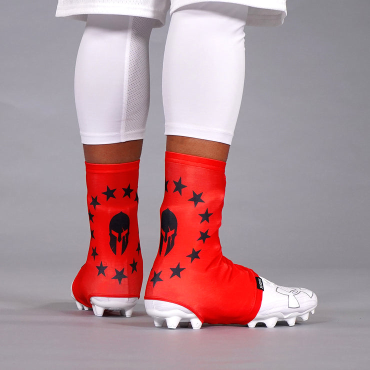 Mask 13 Stars Betsy Rose Red Spats / Cleat Covers